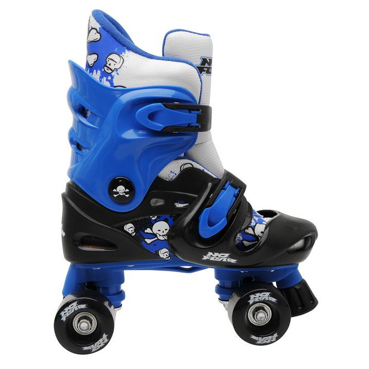 No Fear Kids Childrens Junior Four Wheels Quad Skates Buckle Clasp Fastening