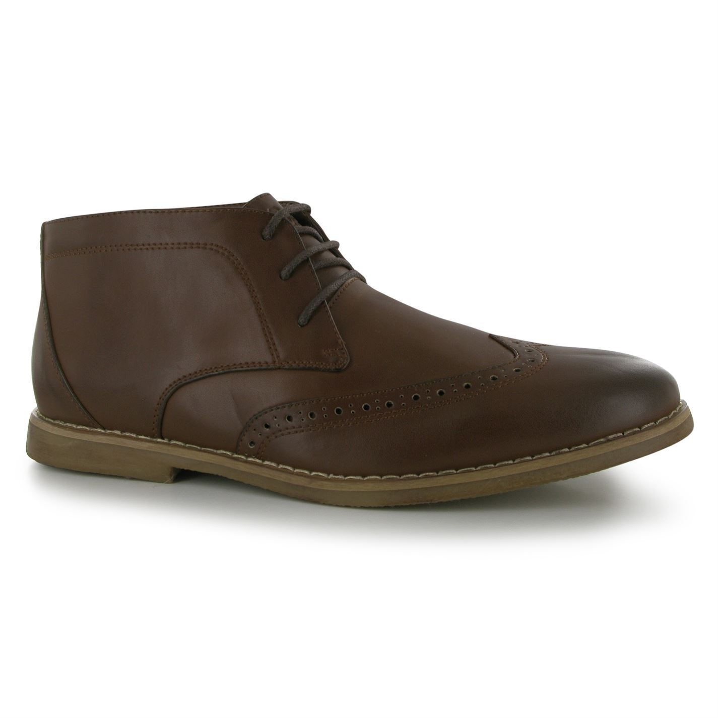 Lee Cooper Mens C Desert Brogue Boots Lace Up Shoes Casual ...