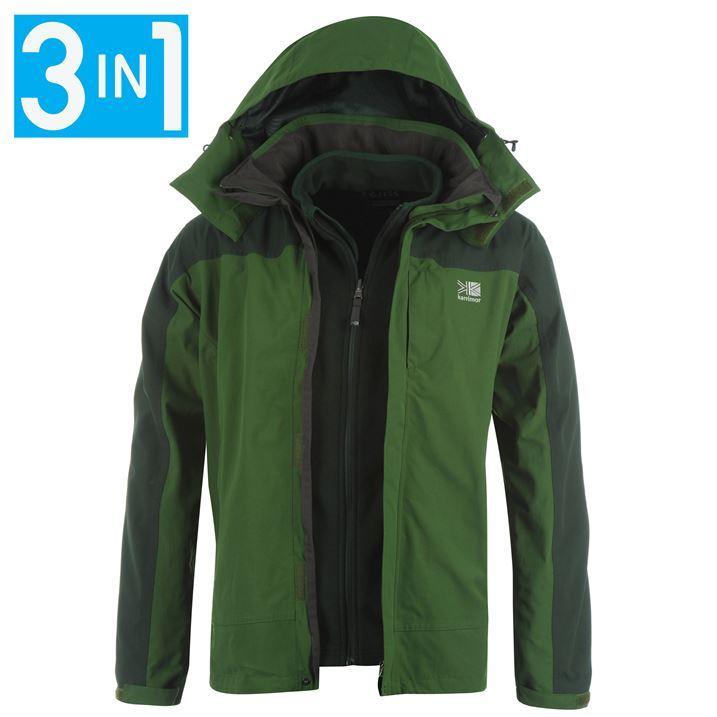 Karrimor Mens Waterproof 3 in 1 Jacket Coat With Removable Inner ...