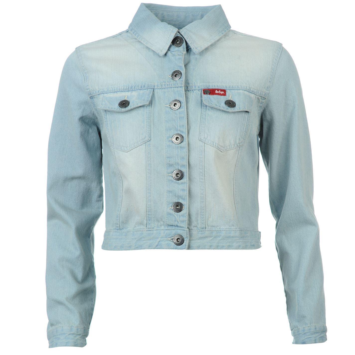 Lee Cooper Womens C Denim Jacket Ladies Button Fastening Pockets | eBay