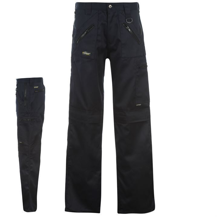 Dunlop Zipper Safety Trousers Multi Mens Gents Ebay