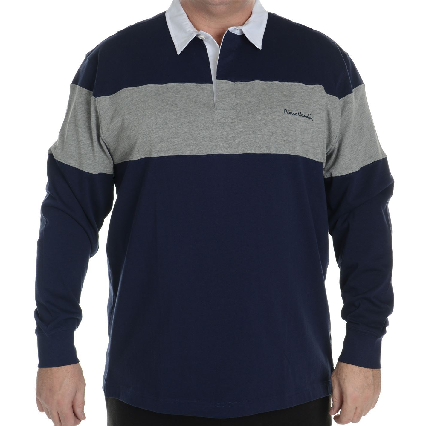 Pierre Cardin Mens C Xl Rugby Polo T Shirt Long Sleeve