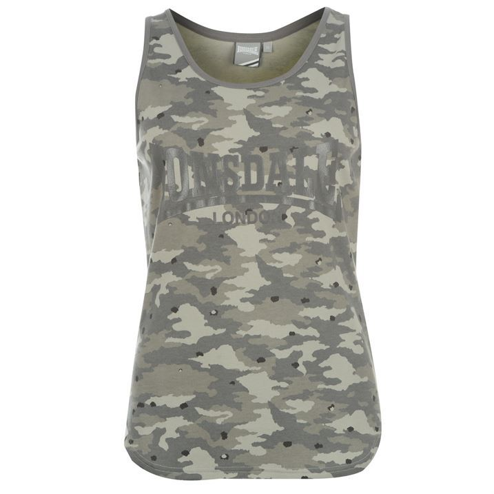 Lonsdale-Womens-Ladies-Clothing-LL-All-Over-Print-Vest-Top-Sleeveless-T-Shirt