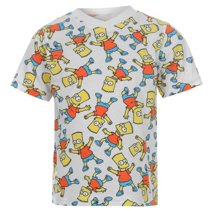 Character Kids Simpsons Short Sleeved T Shirt Infant Boys