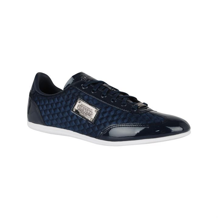 firetrap mens dr kingdom quilted design lace up trainers