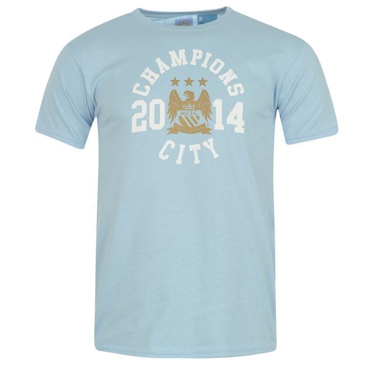 Source Lab Kids Boys Manchester City Champions T Shirt