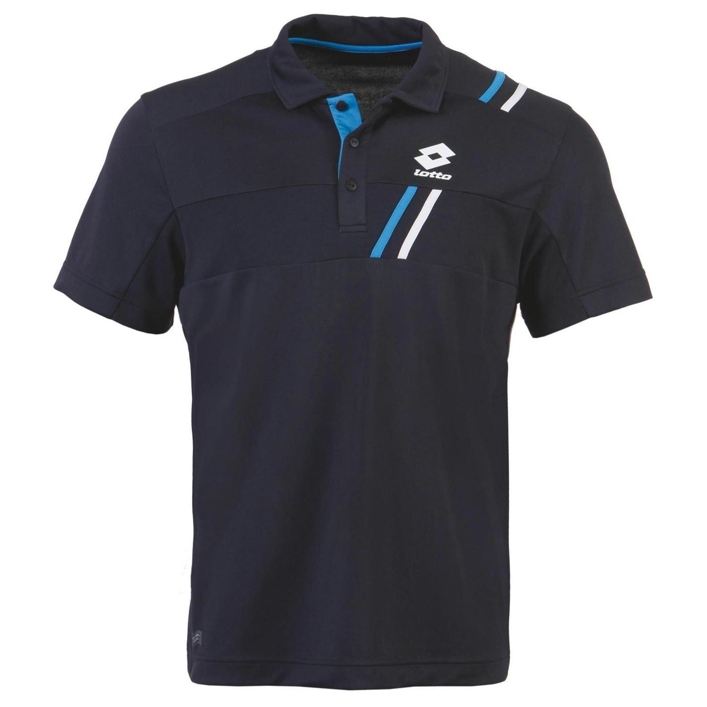 lotto mens tennis polo short sleeve sports training t shirt tee top ebay. Black Bedroom Furniture Sets. Home Design Ideas