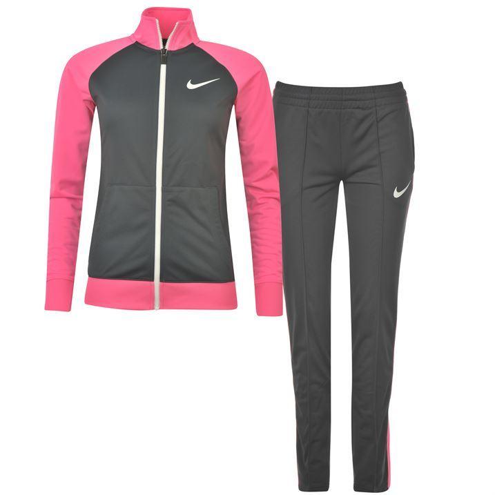 b18ea36a794b Nike Womens Poly Warm Up Tracksuit Ladies Zip Top Pants Bottoms