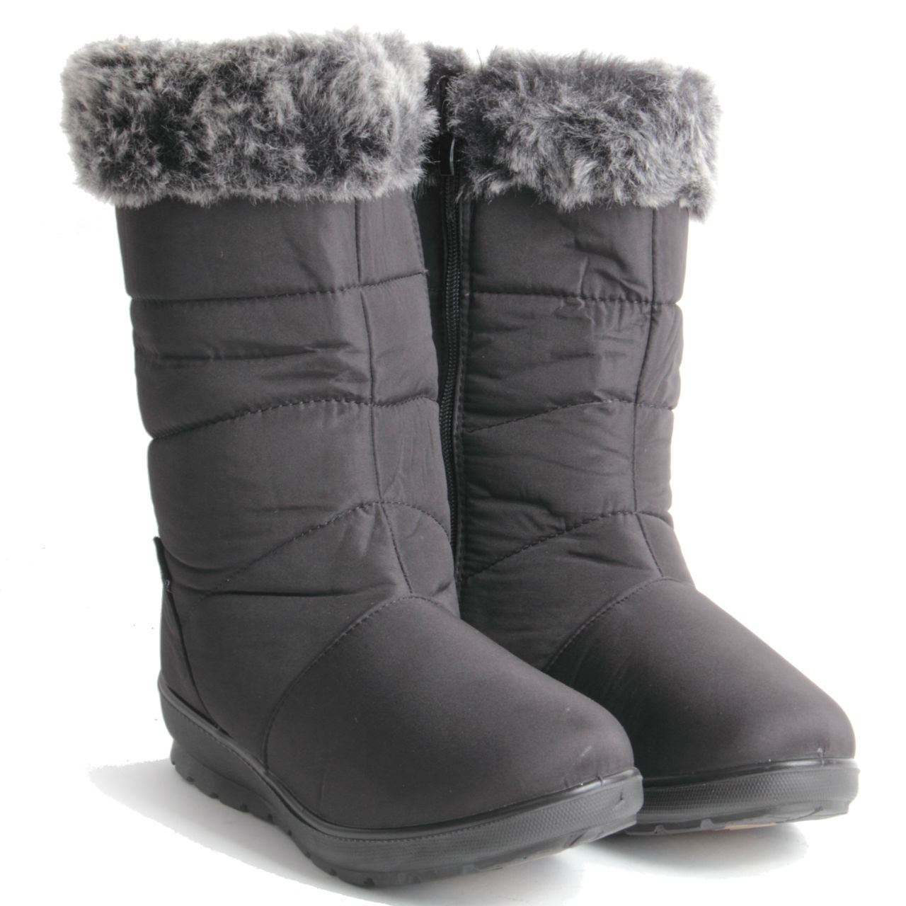 womens warm insulated wedge heel winter shoes mid