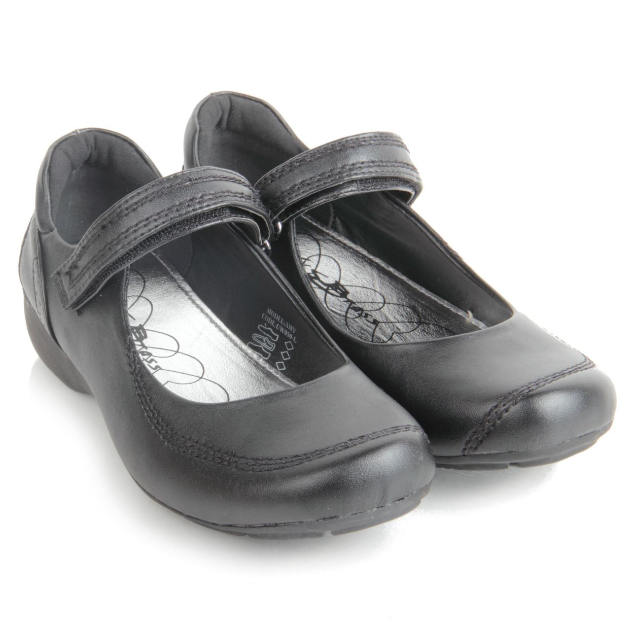 Black Velcro School Shoes