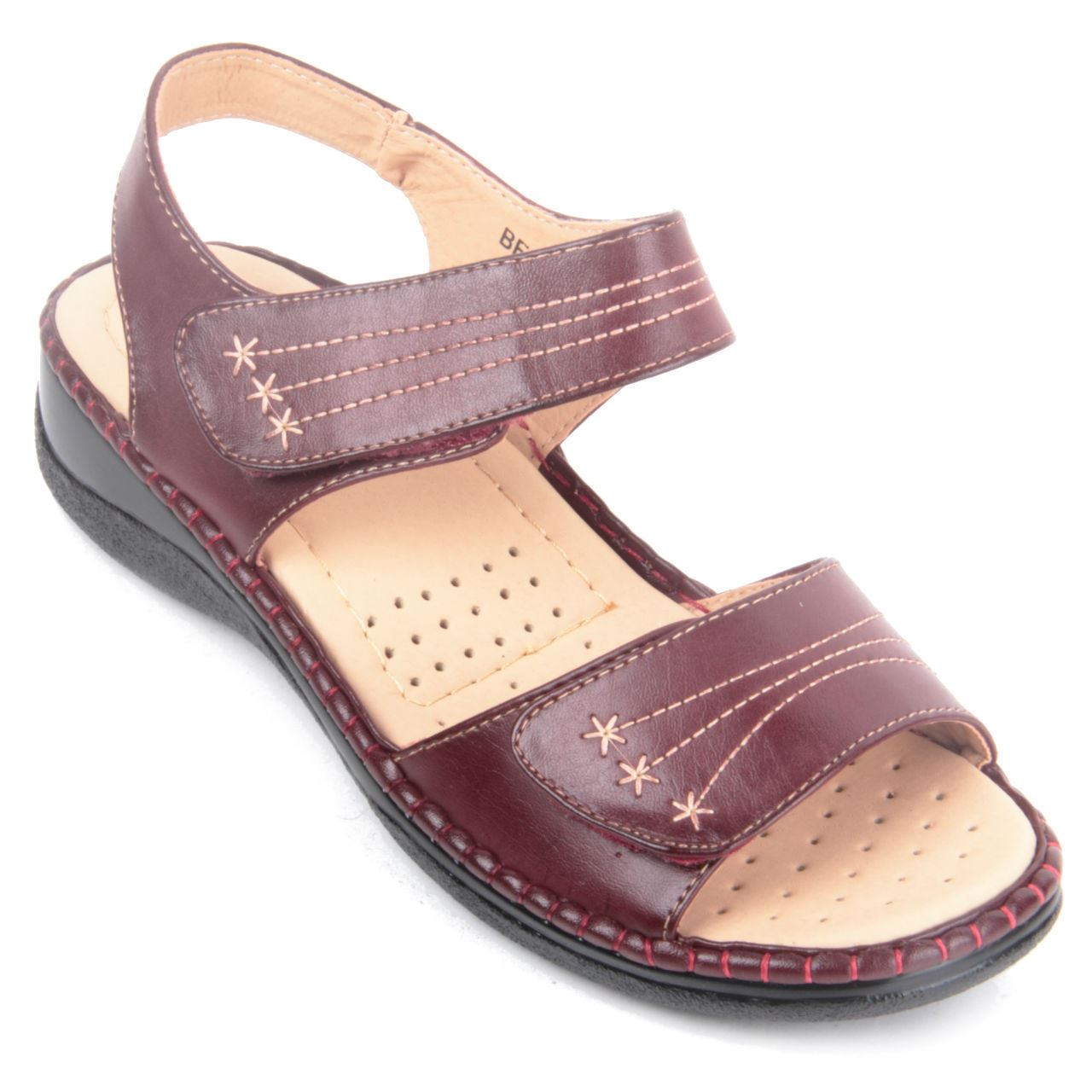 Popular Ecco Womens Velcro Strap Sandals Shadow White | McElhinneys