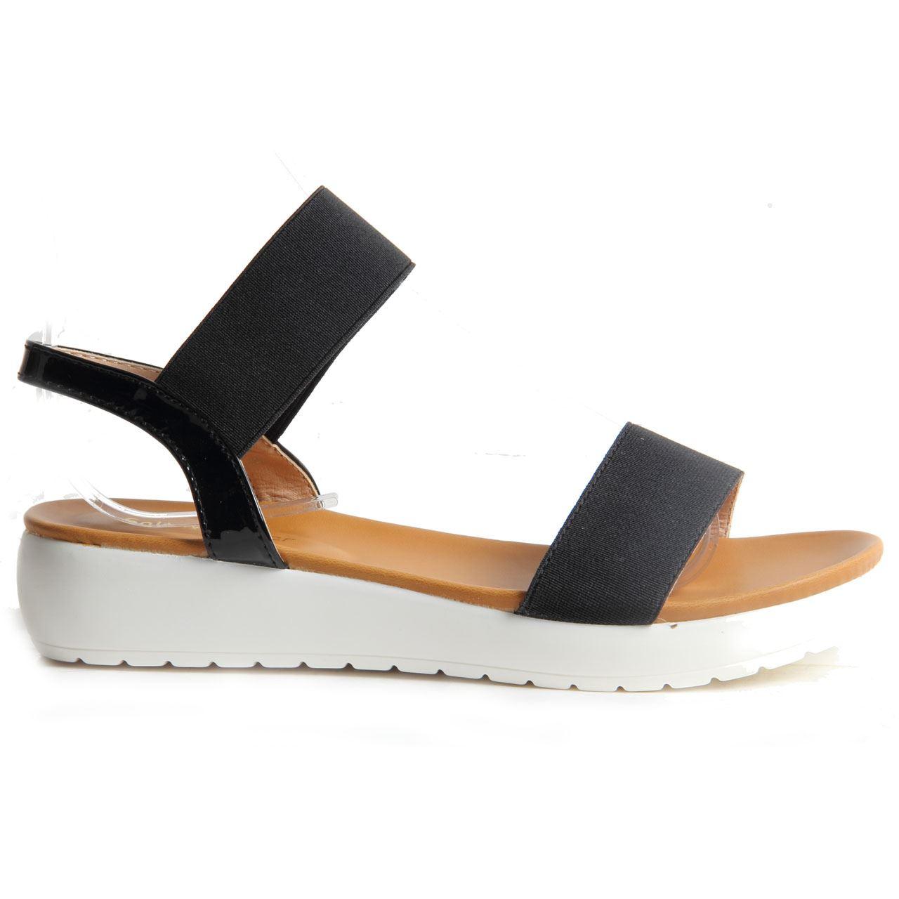 womens slip on platform wedge summer sandals