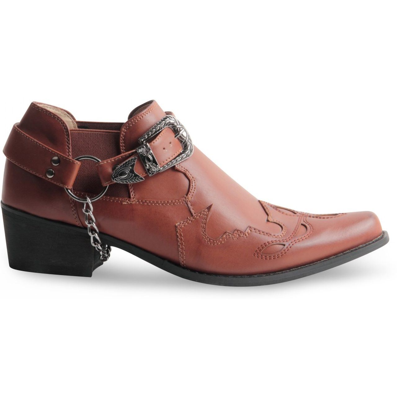 gents cowboy western harness ankle shoe boot