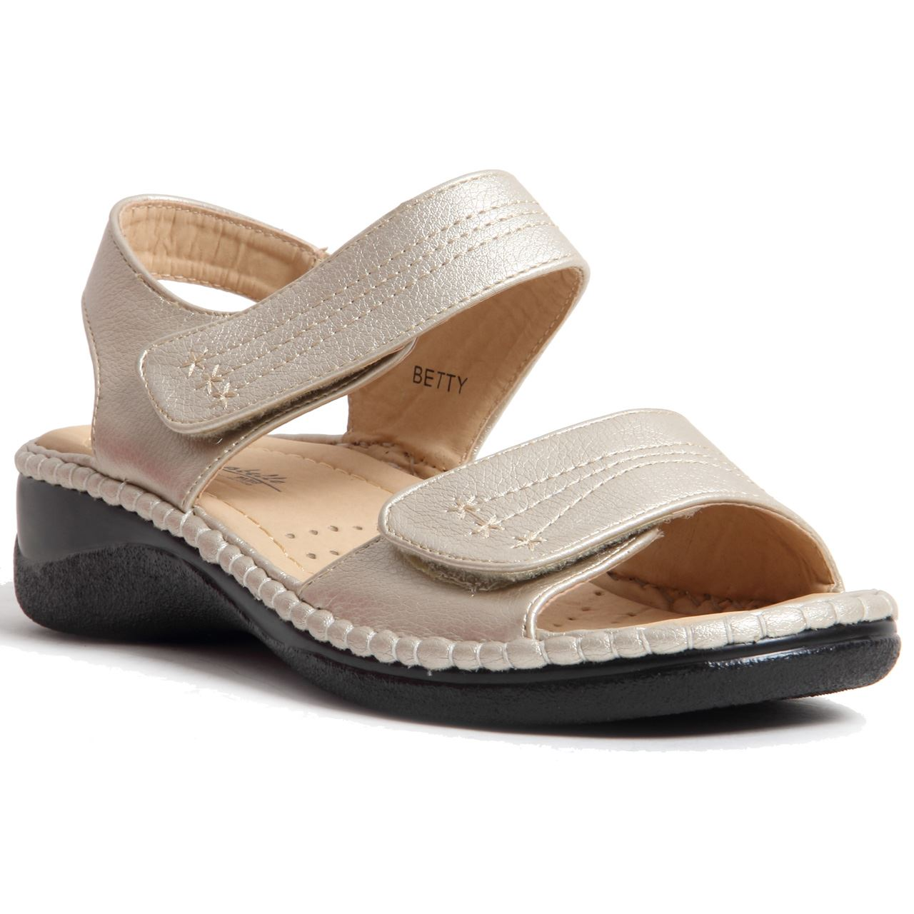Unique Comfortable Flat Leather Sandals Womens CW306201