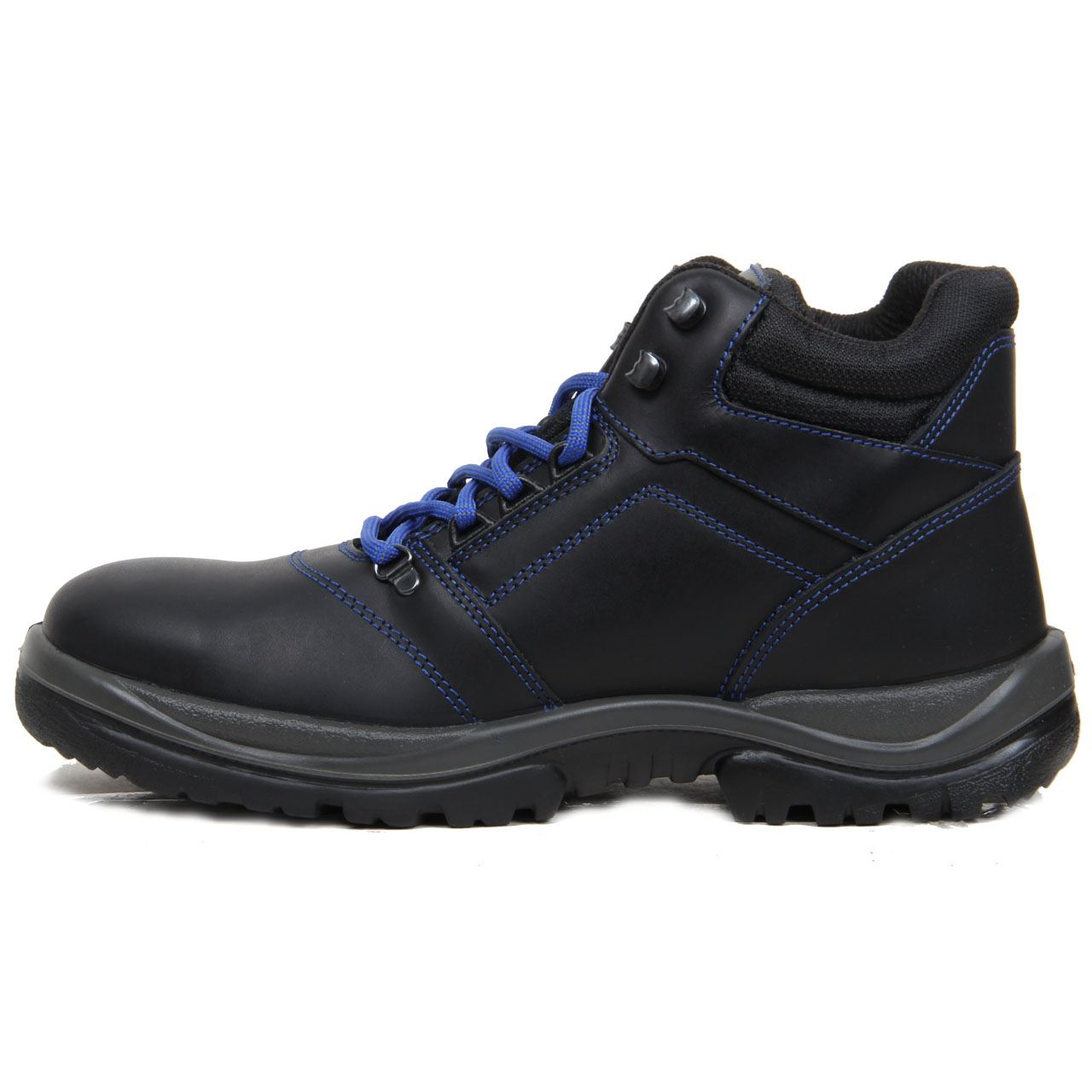 mens safety shoes leather work boots steel toe cap