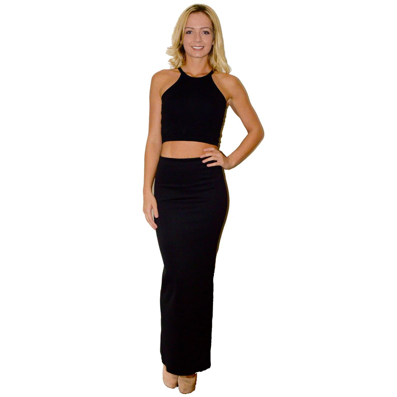 Cool Chic Pencil Skirts Womens Office Look High Waist Long Bodycon Skirt