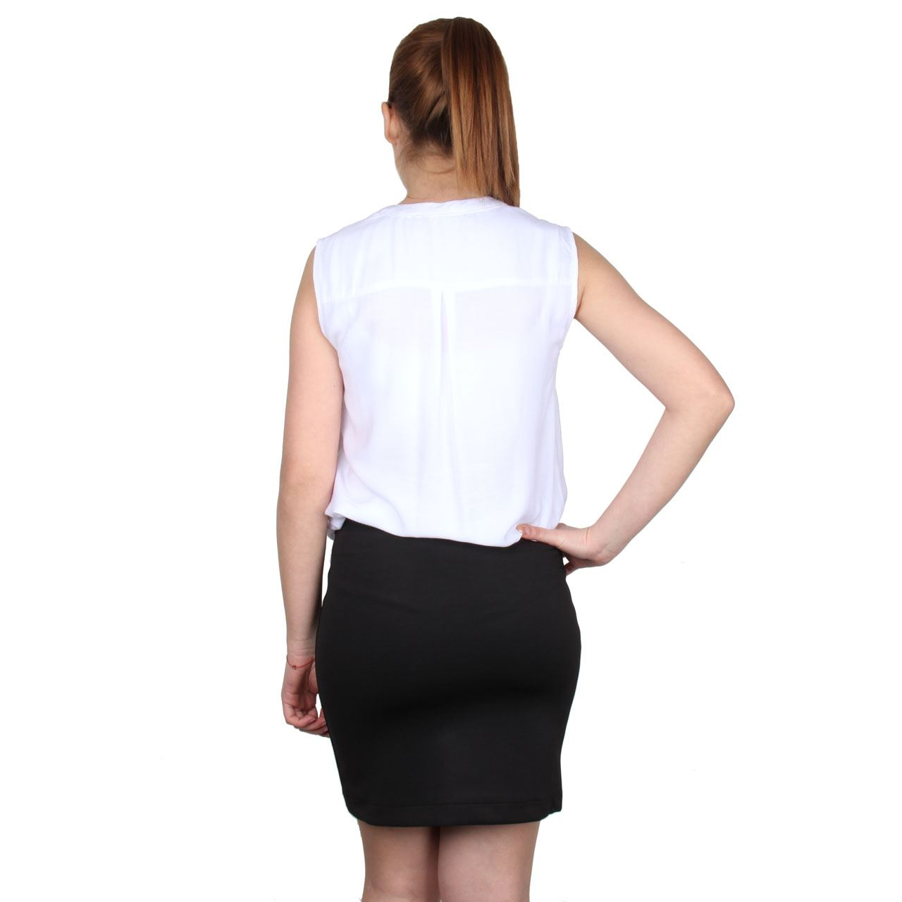 womens mini skirt elasticated waist slip on