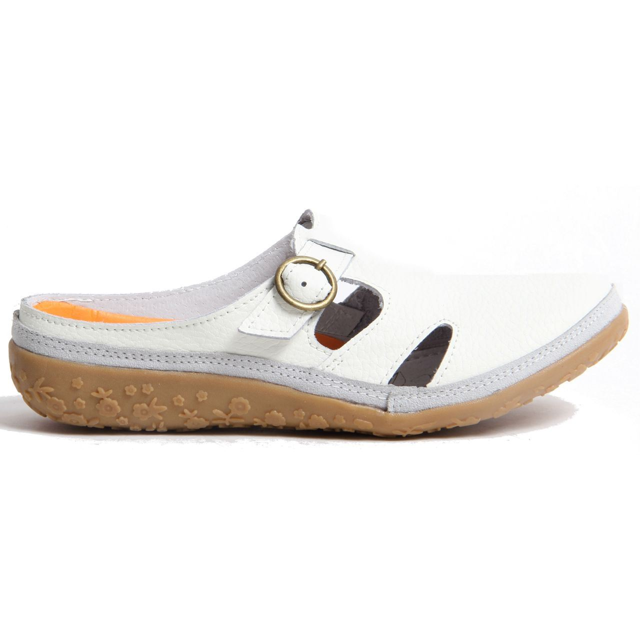 womens slip on open back mules genuine leather