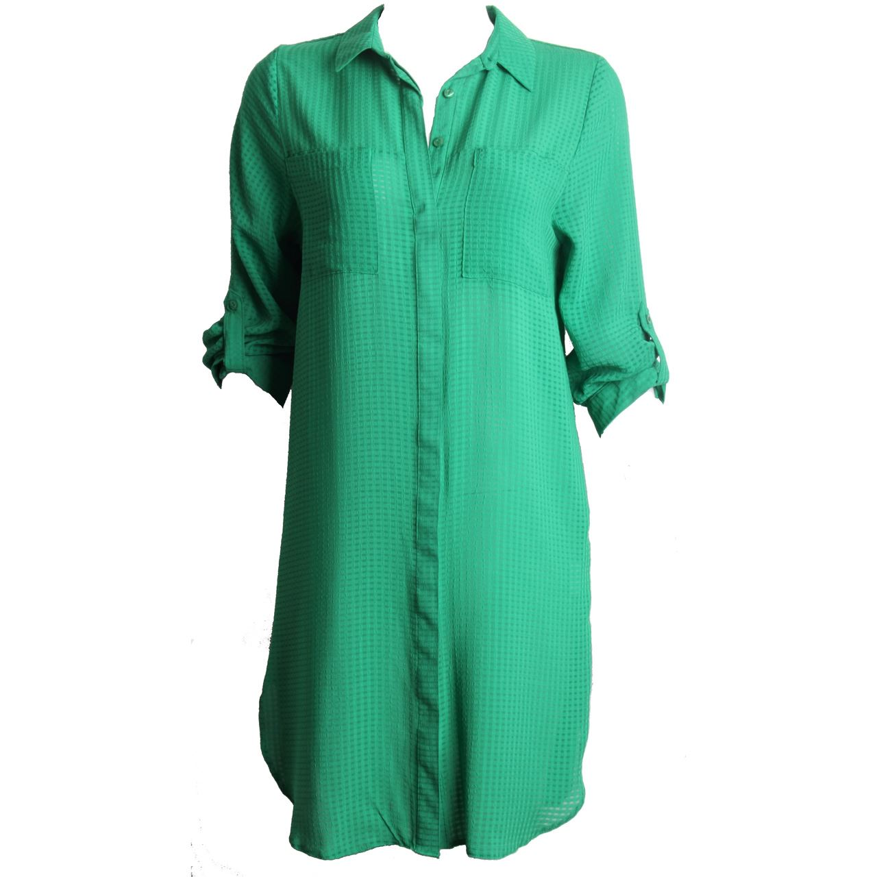 Womens ladies button down rolled sleeve long shirt smart for Womens tall button down shirts