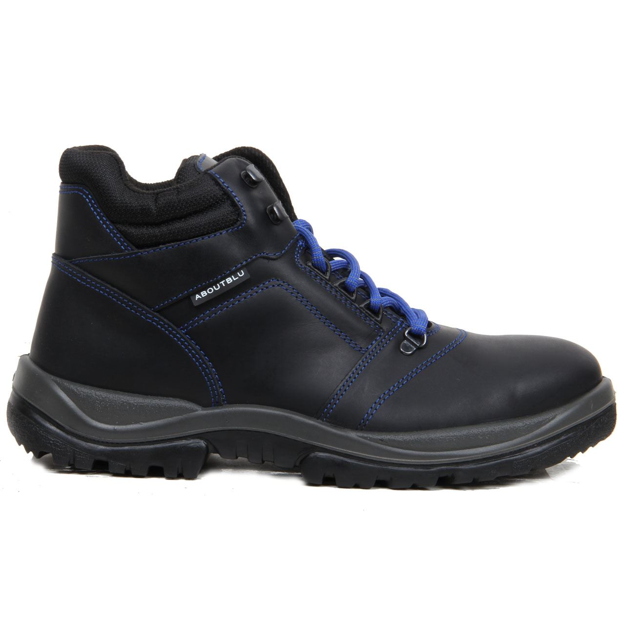Mens Safety Shoes Leather Work Boots Steel Toe Cap ...