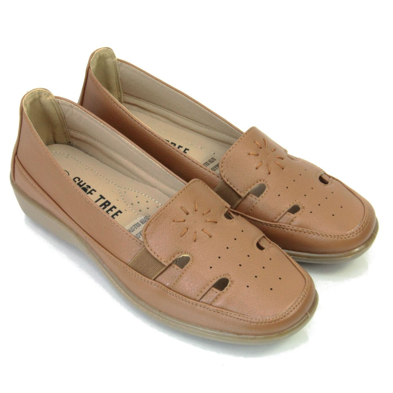 womens comfortable low wedge summer shoes faux leather various styles ebay