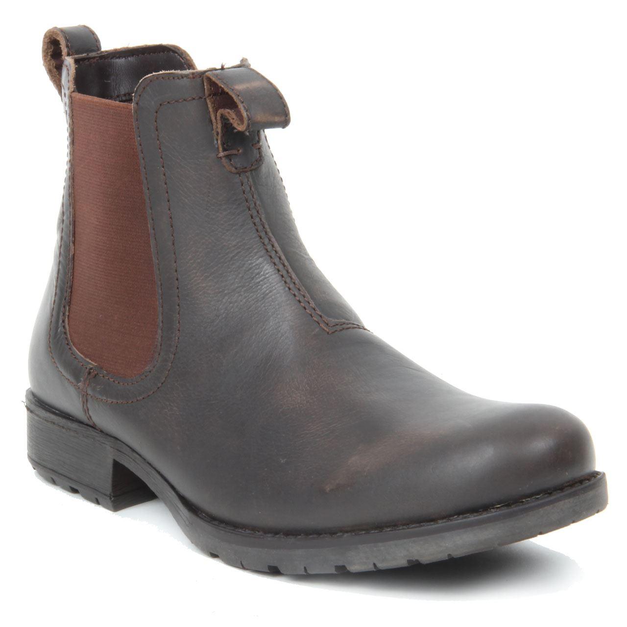mens slip on toe chelsea boots wedge heel genuine