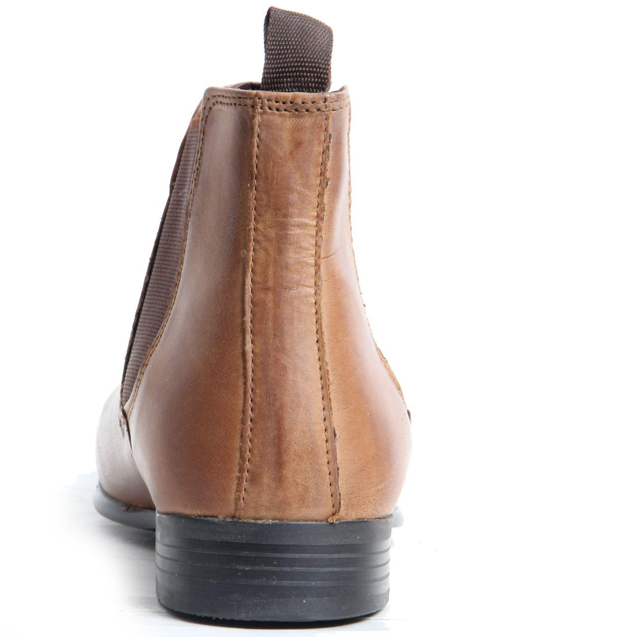 mens gentleman genuine leather slip on smart casual