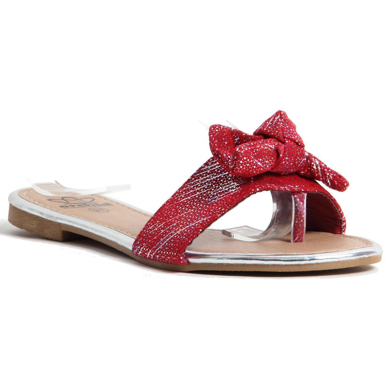Womens Ladies Sparkling Slip On Flip Flops Comfortable