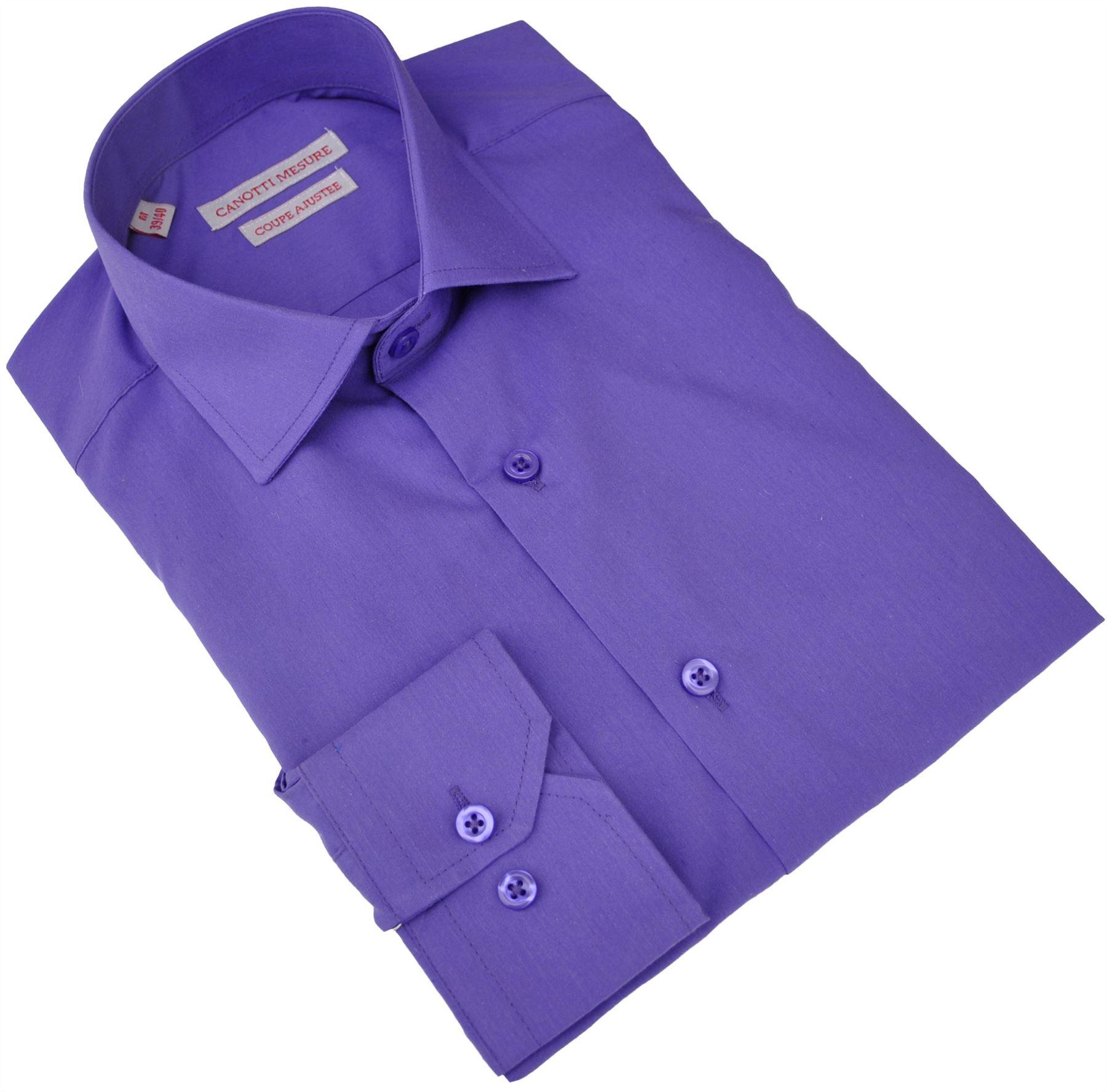 chemise homme violet vito canotti 3002b violet 17603 ebay. Black Bedroom Furniture Sets. Home Design Ideas