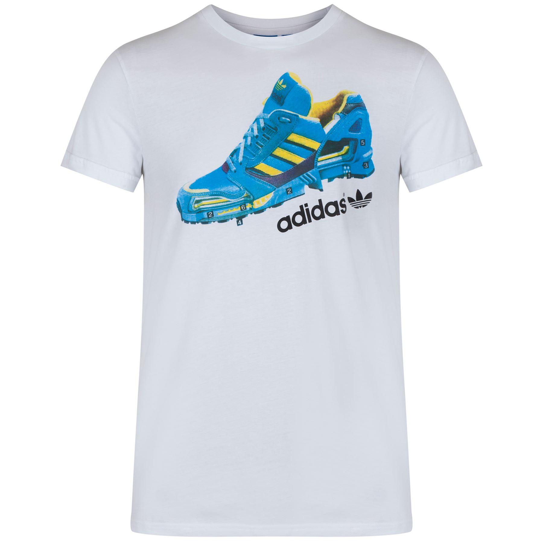 T shirt adidas white - Adidas Originals Men S Zx Treking T Shirt White Blue Zx 8000 Sizes Xs Xl B Grade