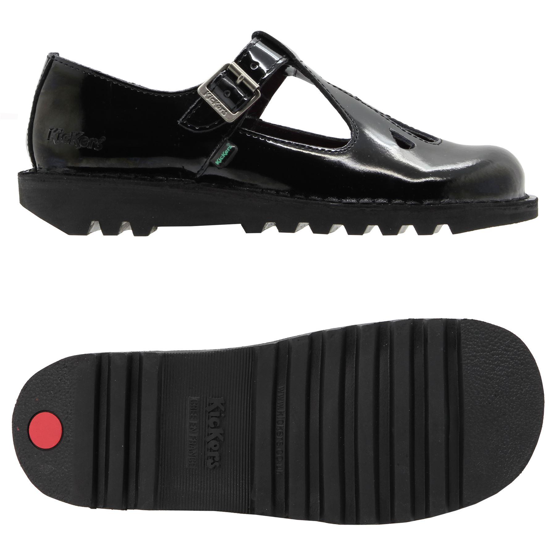 Black kicker sandals - Kickers Women S Sizes Uk 3 4 5 6 7 8 Kick Lo Adlar Patent Shoes Black Leather