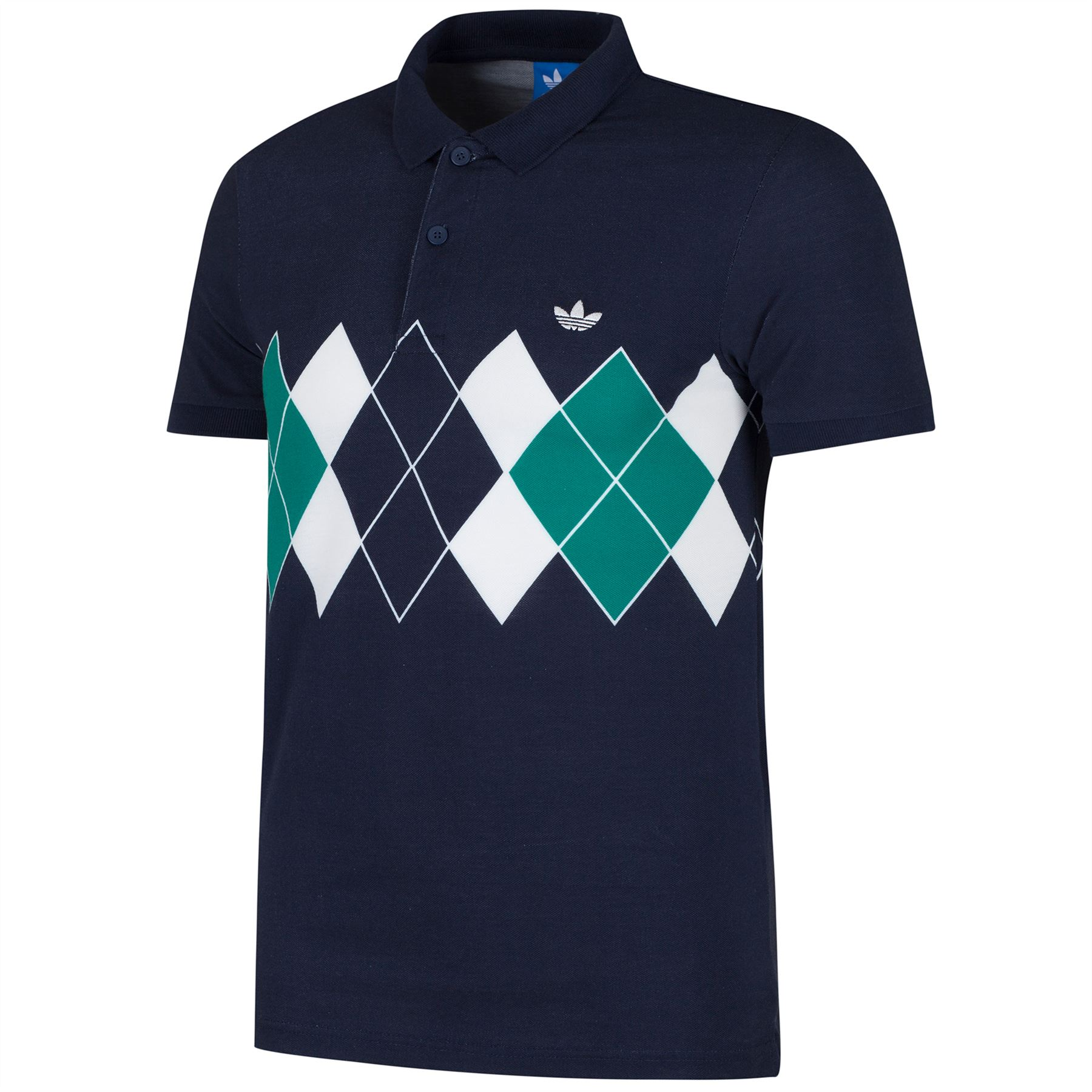Adidas originals argyle ivan lendl men 39 s polo shirt white for Mens xs golf shirts
