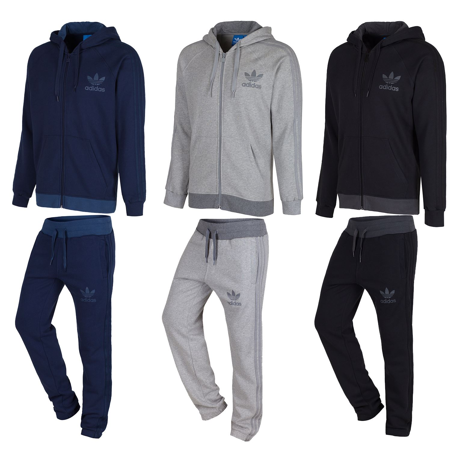 adidas originals men 39 s spo full zip track suit navy grey. Black Bedroom Furniture Sets. Home Design Ideas