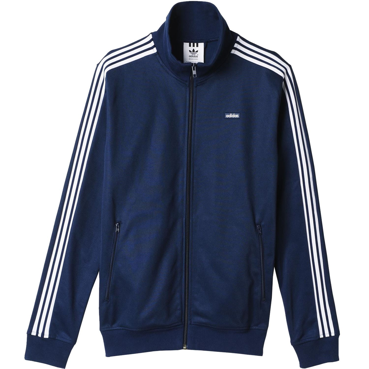 adidas originals mens beckenbauer og jacket navy red