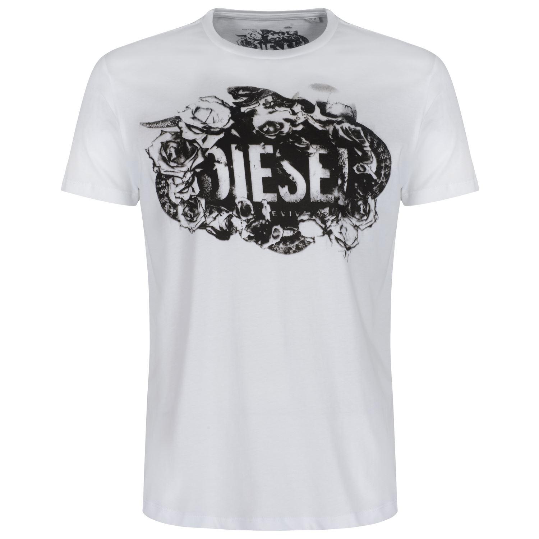 DIESEL MEN'S T-SHIRTS CREW NECK V NECK 17 STYLES SIZE S M ...