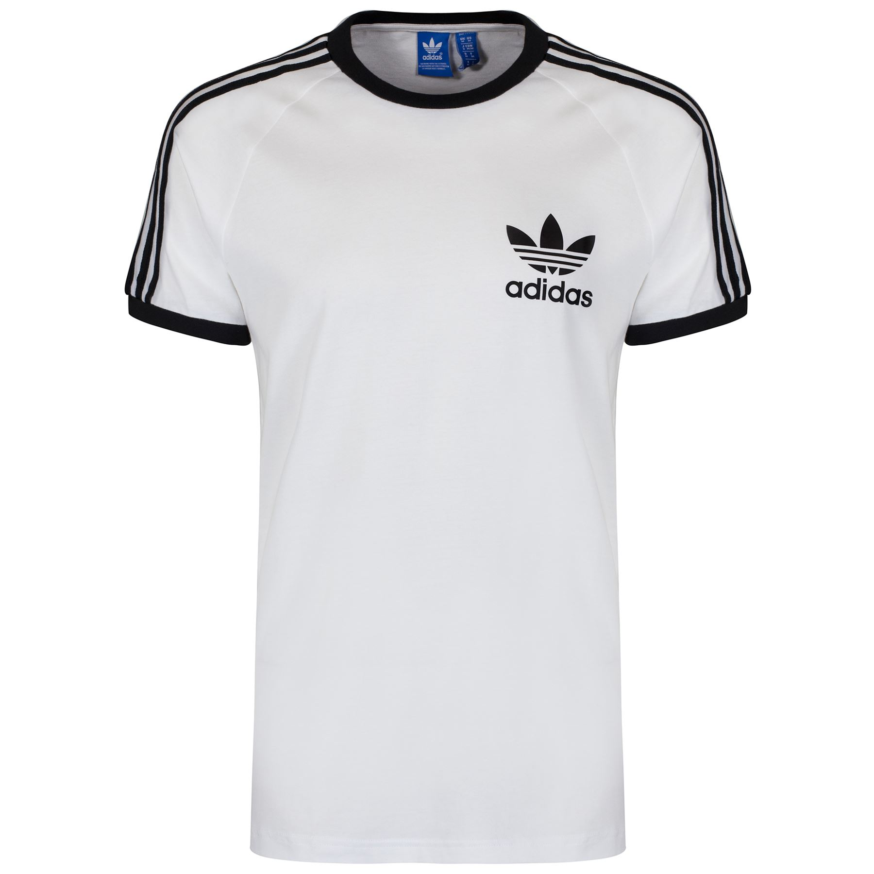adidas originals california tee mens multi colour size trefoil t shirt. Black Bedroom Furniture Sets. Home Design Ideas