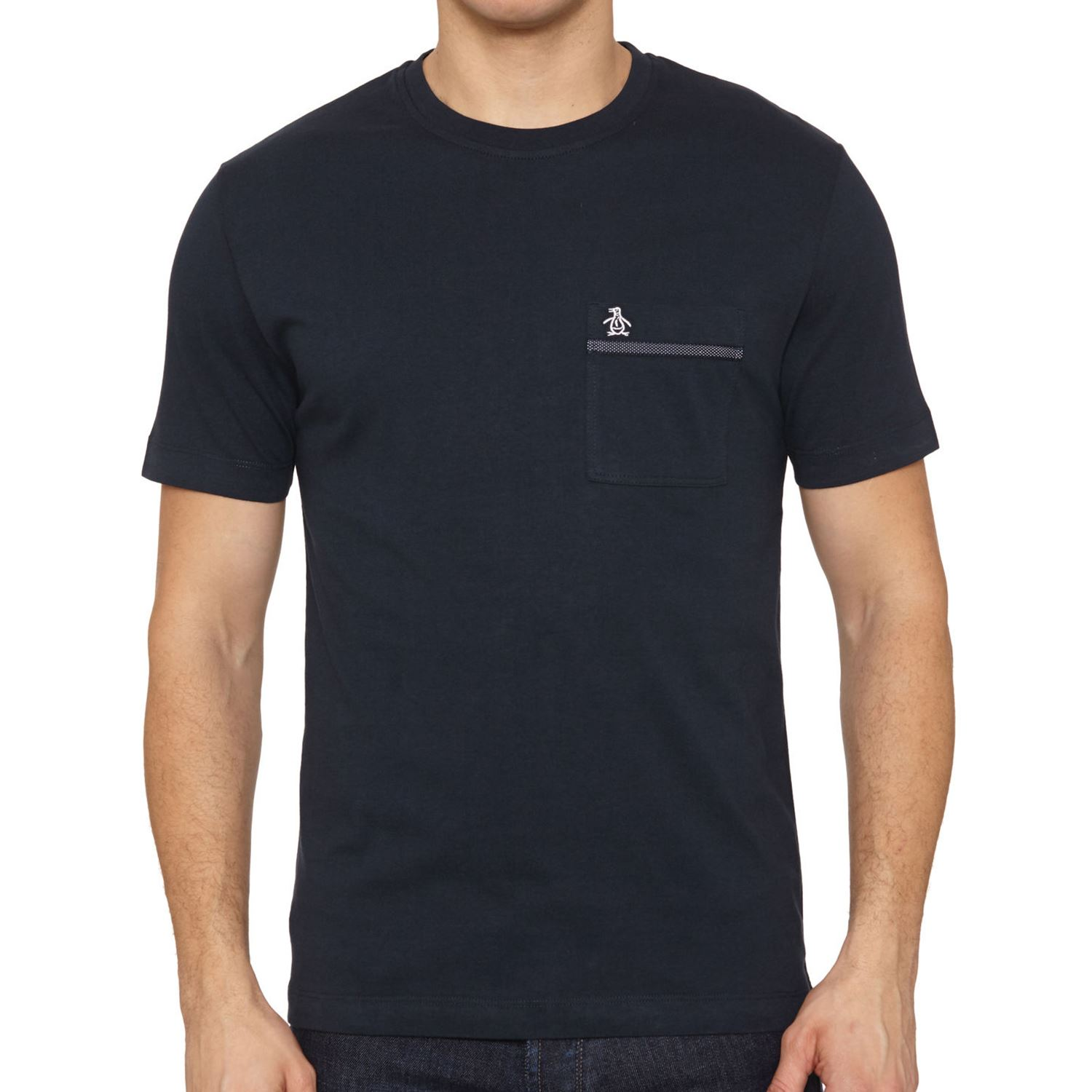 original penguin tape pocket tee t shirt men 39 s green navy. Black Bedroom Furniture Sets. Home Design Ideas