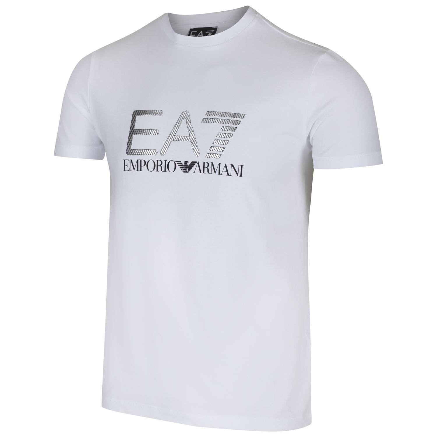 T shirt white ebay - Emporio Armani Ea7 Men S Train Graphic Crew Neck T Shirt White Navy Sizes S Xxl