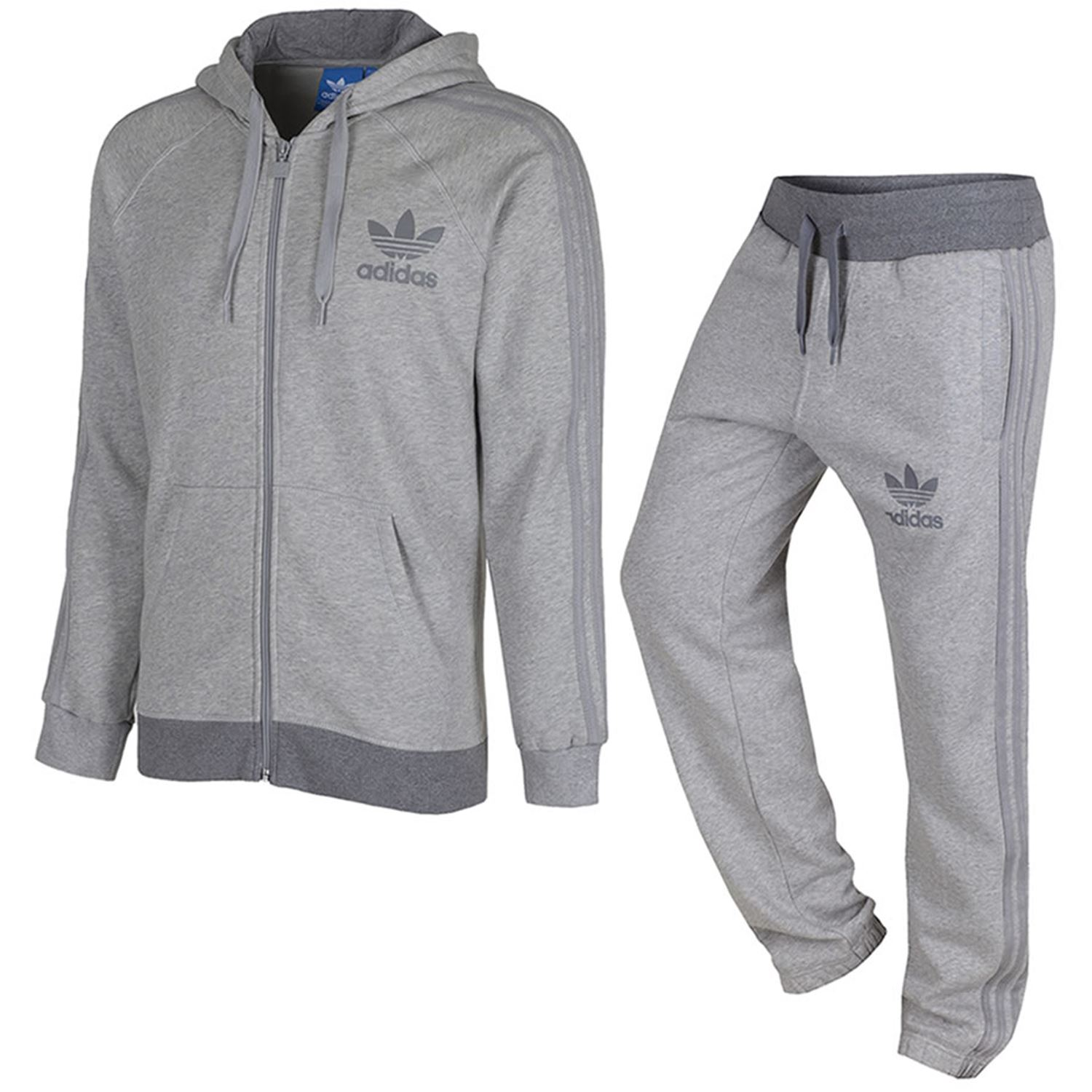 adidas originals men 39 s spo full tracksuit navy grey black. Black Bedroom Furniture Sets. Home Design Ideas