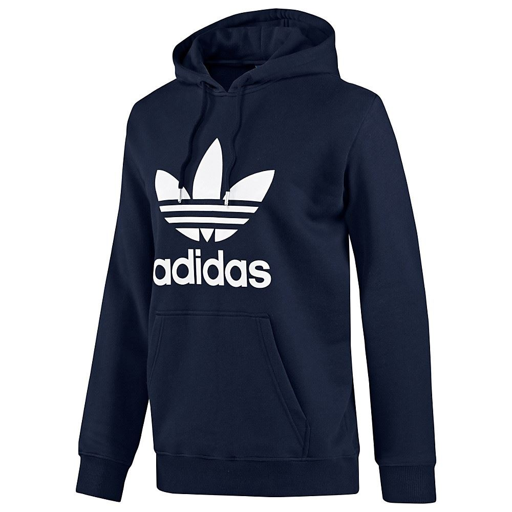 adidas originals trefoil hoody s m l xl sweatshirt pullover red retro black navy ebay. Black Bedroom Furniture Sets. Home Design Ideas