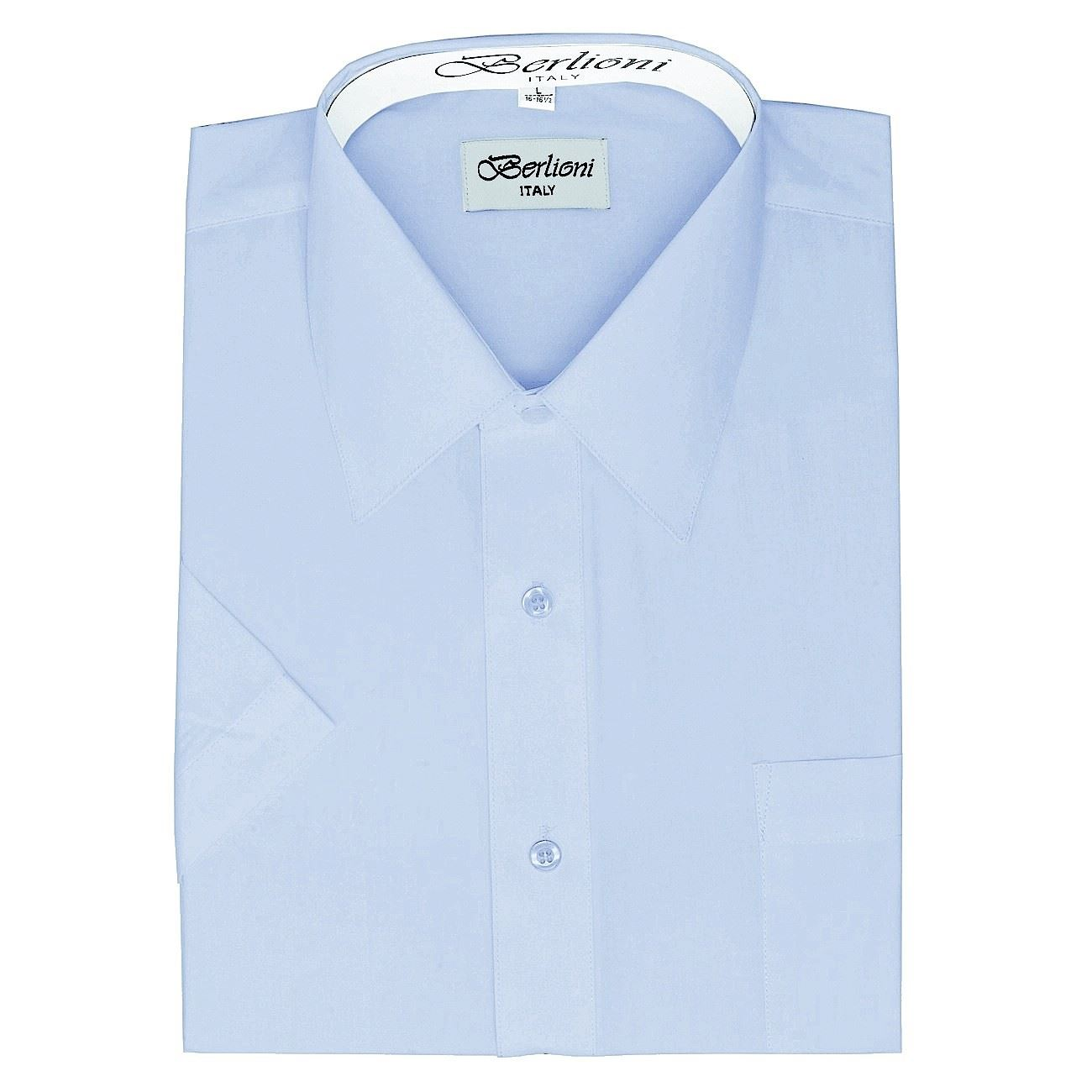 berlioni men 39 s dress shirt basic short sleeve button down