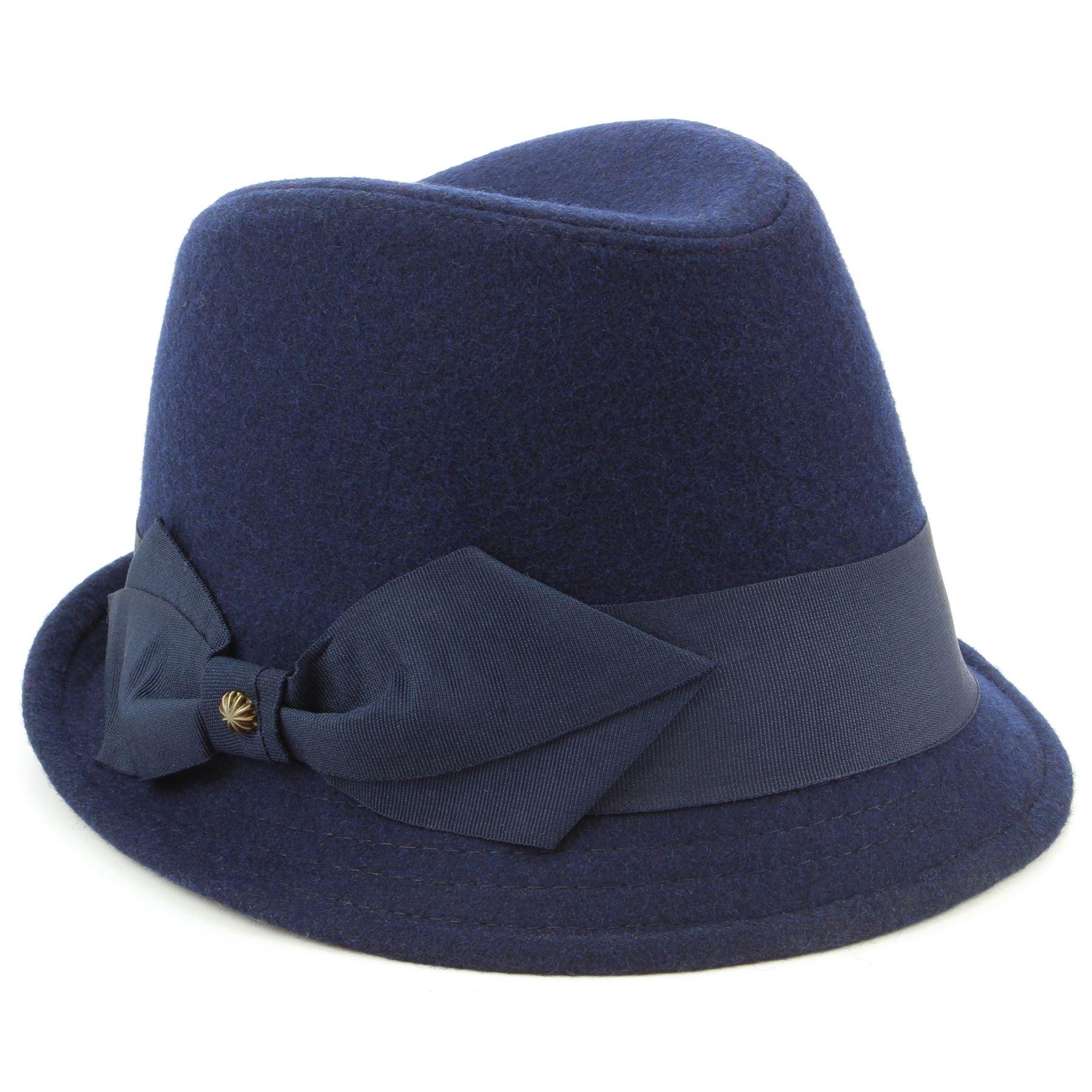 wool trilby hat felt womens hawkins brim bow