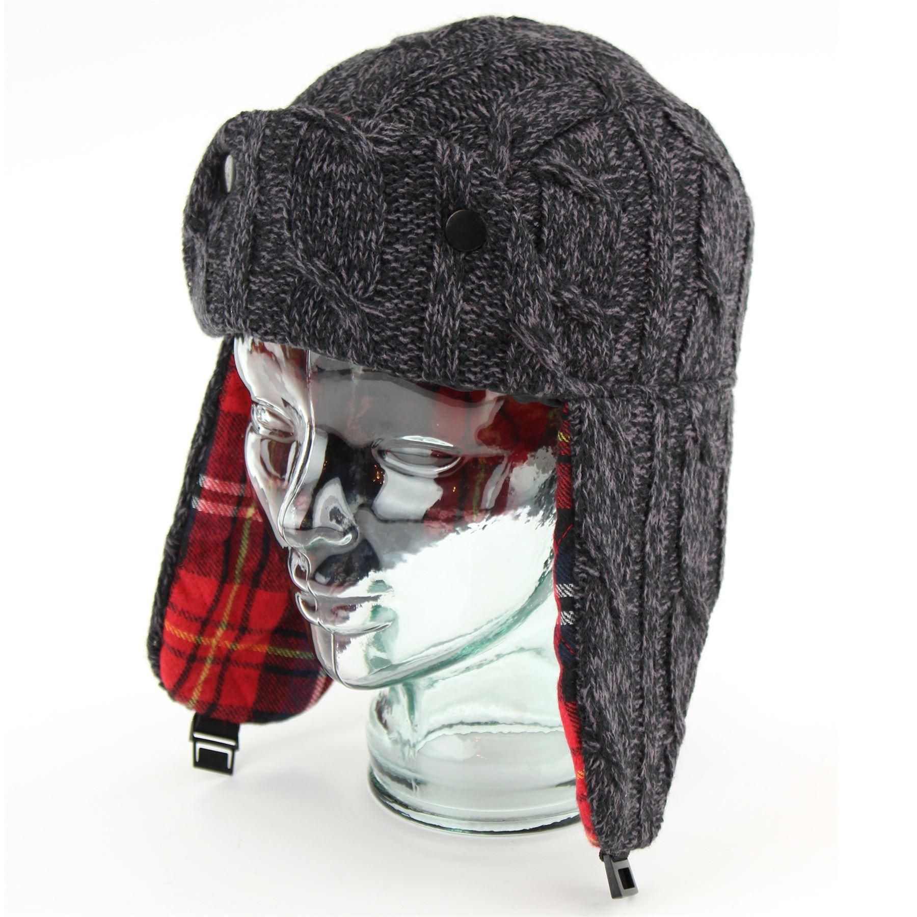1f99391c38481 ... Plaid Trapper Hat  Trapper Hat Mens Winter Hawkins Plaid Tartan Lining  Black