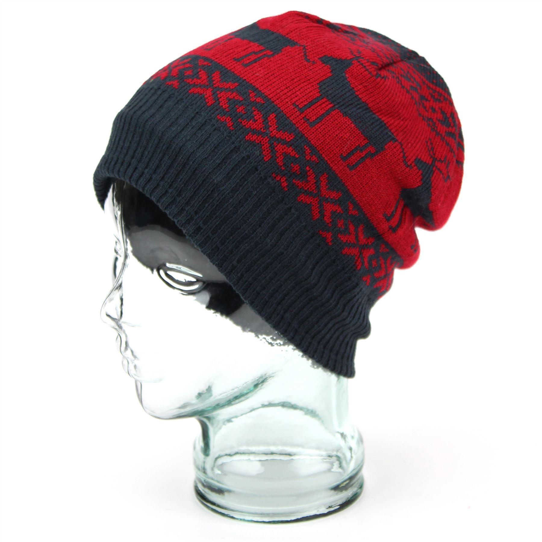 Hat beanie reindeer winter ski christmas knitted xmas