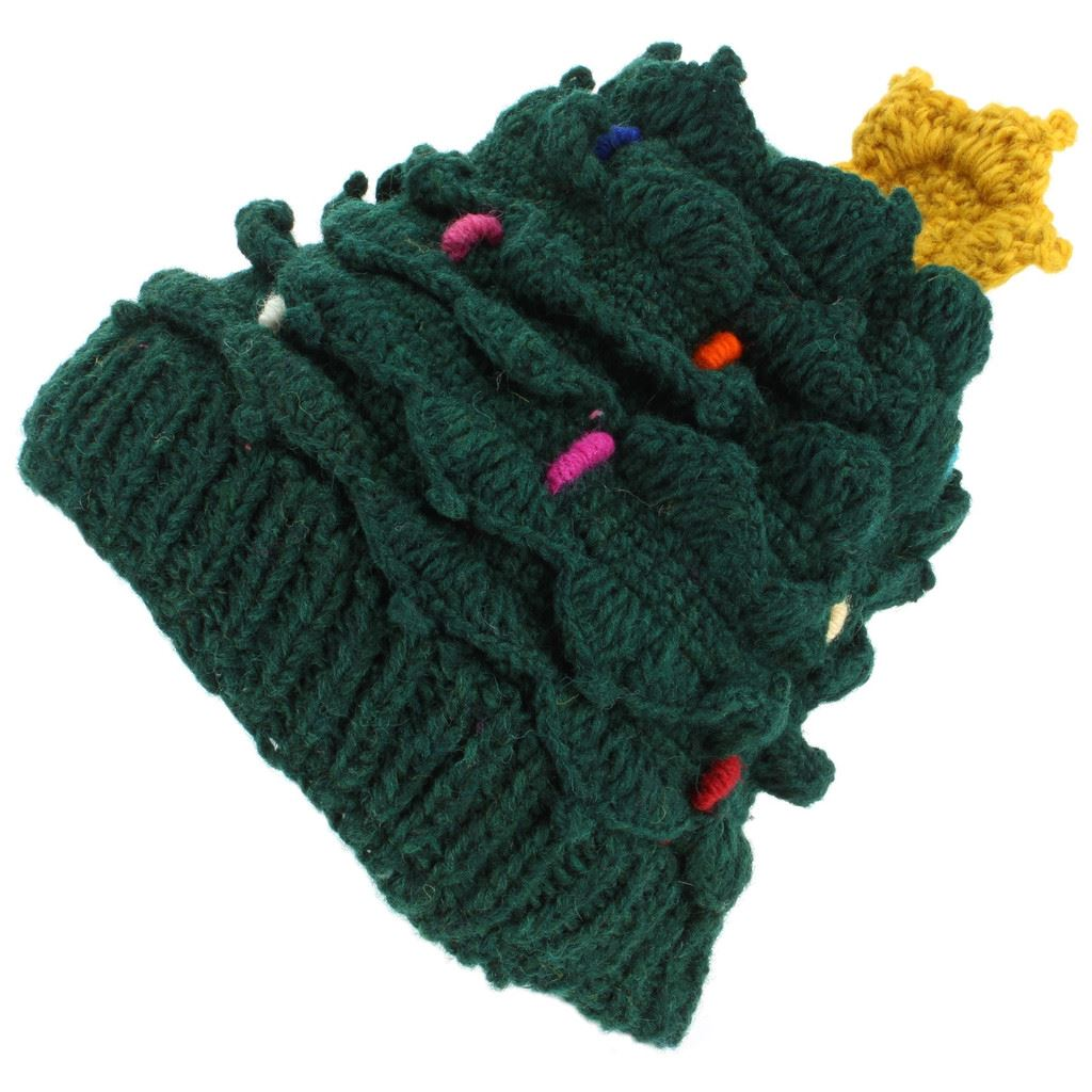 Christmas Tree Hats: Christmas Tree Hat Wool Knit Knitted Xmas LoudElephant