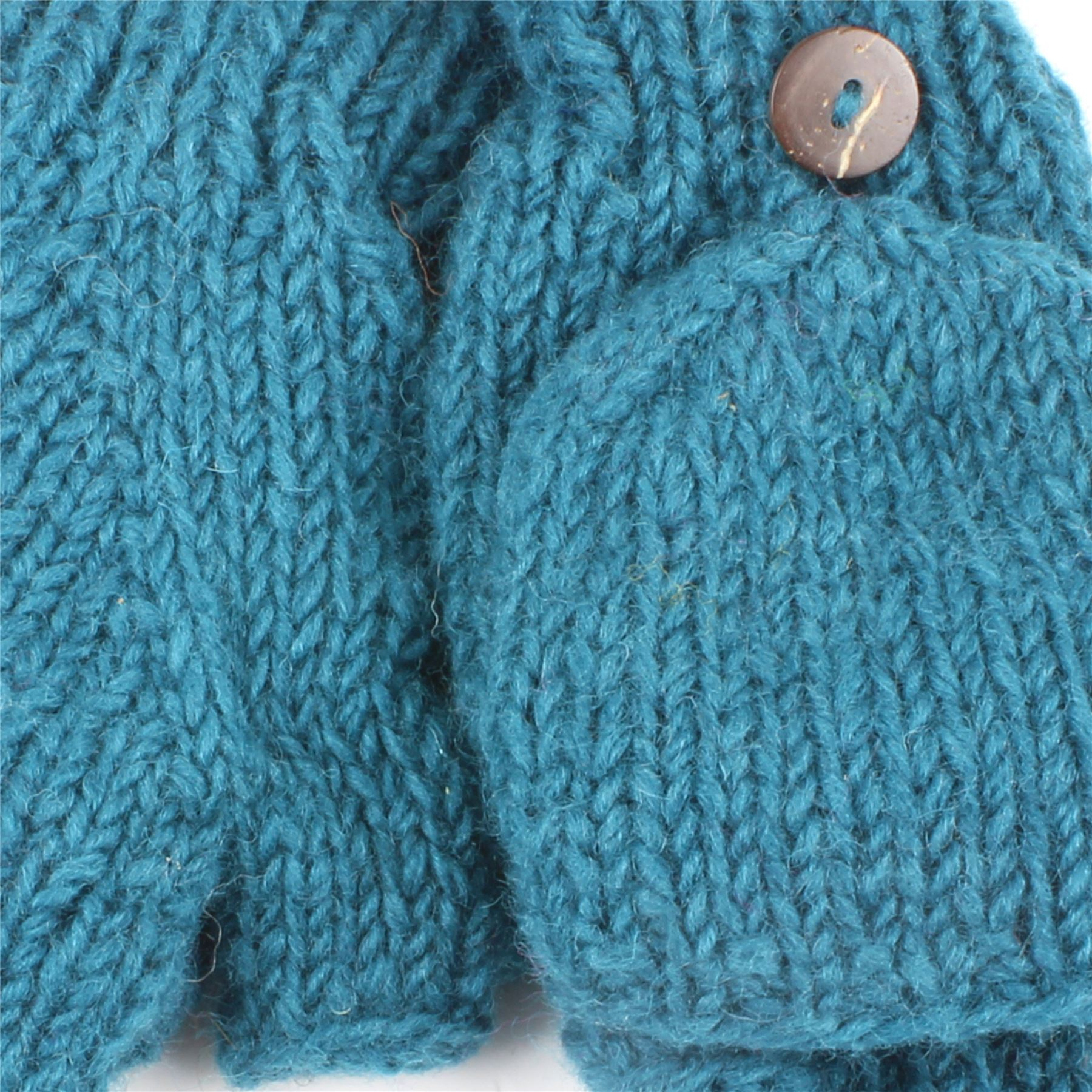 Fingerless Gloves Mittens Fleece Lined Wool Knit Shooting LOUDelephant eBay