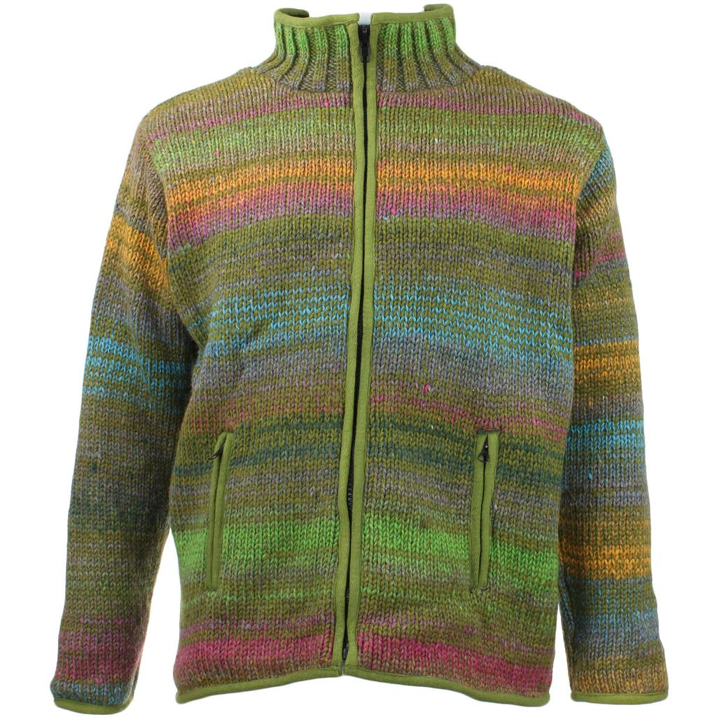 Knitting Pattern For Tortoise Coat : WOOL KNIT CARDIGAN JACKET ZIP UP TURTLE NECK HIPPIE ...