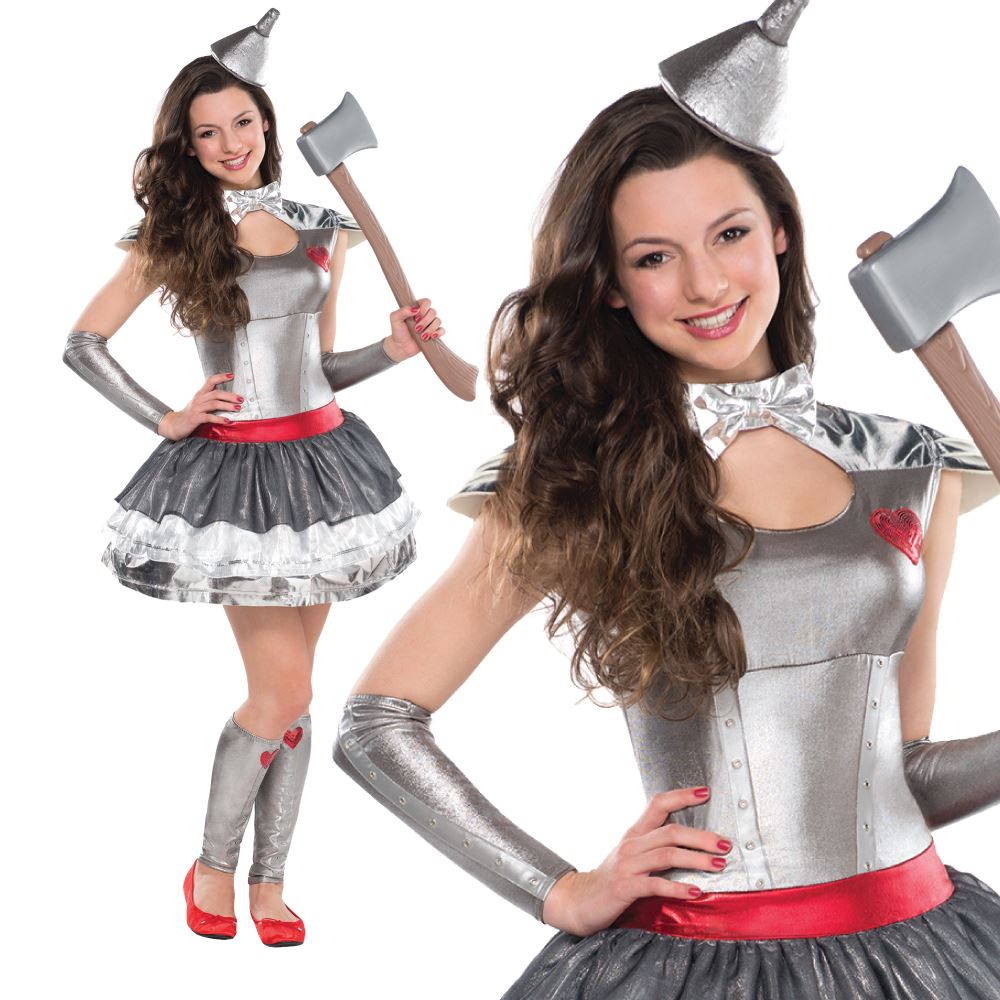 Girls Tin Man Fancy Dress Costume inspired by Wizard of Oz Story ...