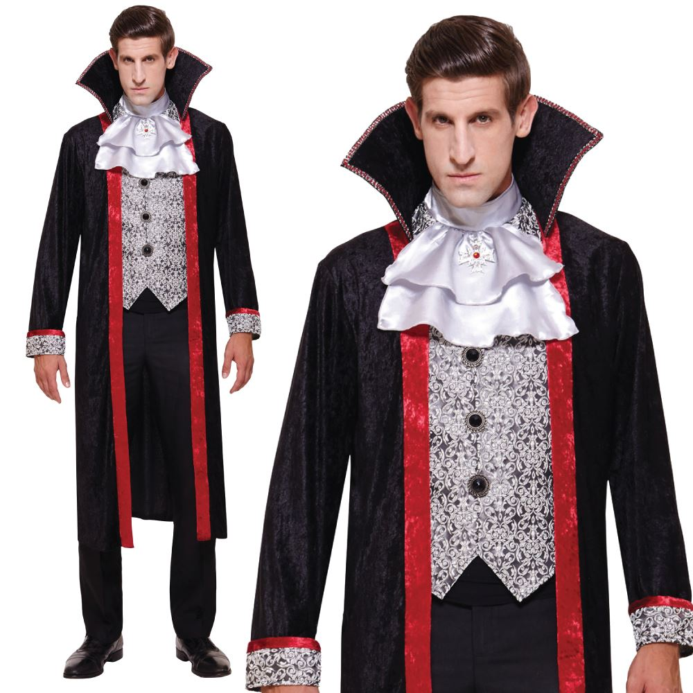 Couples-Idea-Mens-Womens-V&ire-Halloween-Fancy-Dress-  sc 1 st  eBay & Couples Idea: Mens Womens Vampire Halloween Fancy Dress Costume | eBay