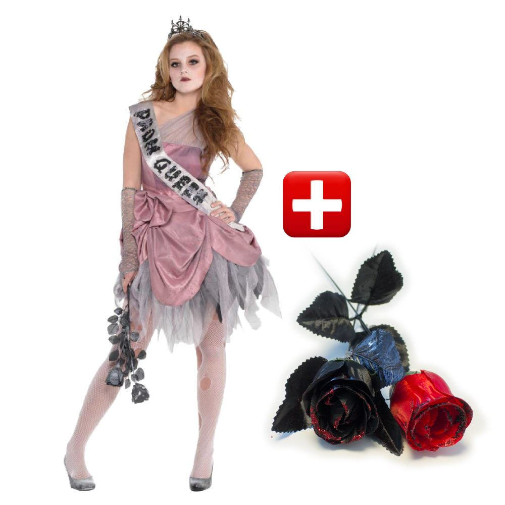 girls zombie prom queen fancy dress costume teen